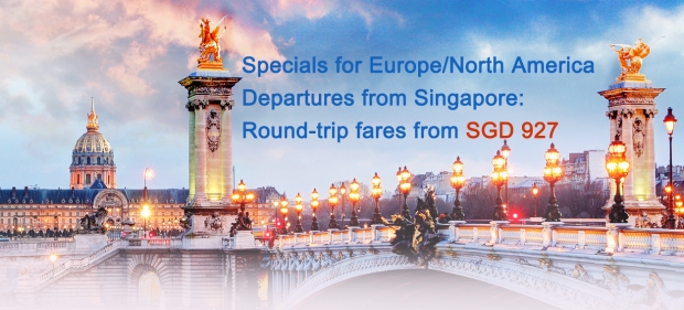 Fly to Europe and North America with Air China from SGD927