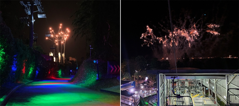fireworks at skyline luge sentosa