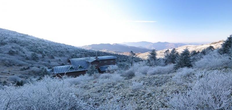 winter jirisan national park south korea