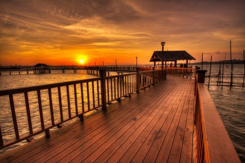 Changi Point Coastal Walk is one of the best spots to see the sunset in Singapore