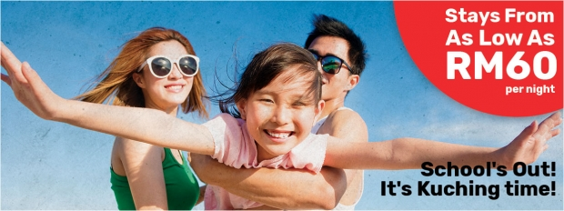School's Out! It's Kuching Time with Stay at Tune Hotel from RM60