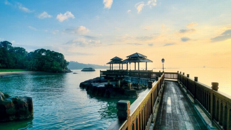 Go to Pulau Ubin Island to catch the stunning sunset in Singapore
