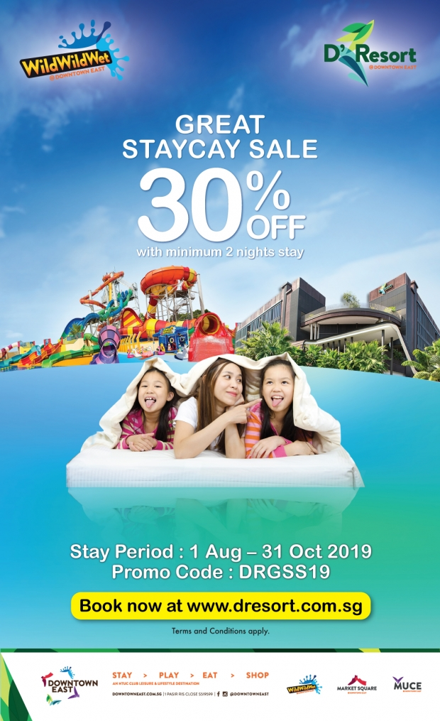 Enjoy 30% Off Stay at D'Resort @Downtown Hotel