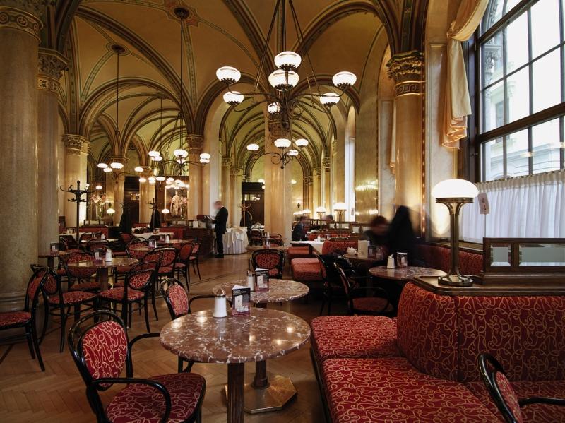 Inside Café Central, Vienna