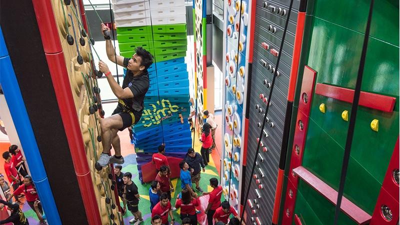range of walls at Clip 'n Climb