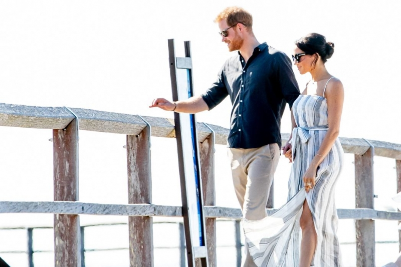 prince harry and meghan markle at fraser island