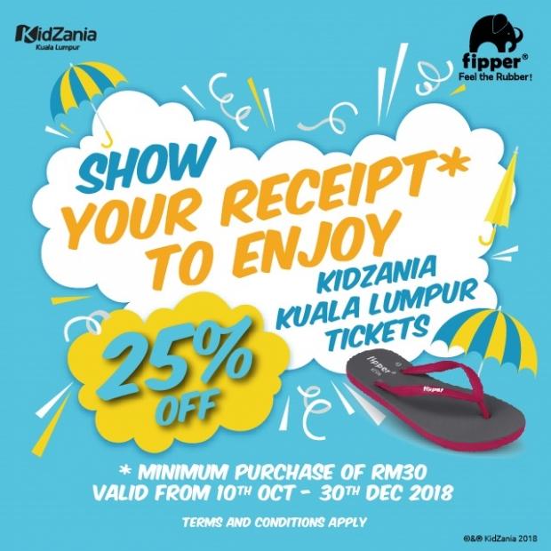 Up to 25% Off KidZania Kuala Lumpur Ticket with Flipper Promotion