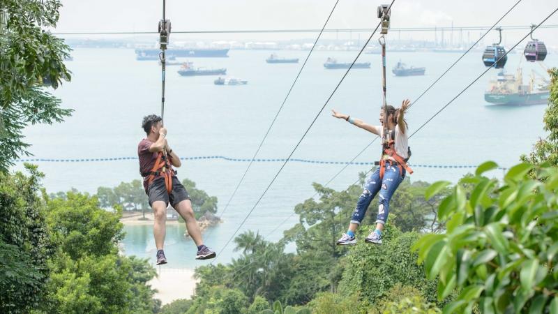zipline at Mega Adventure