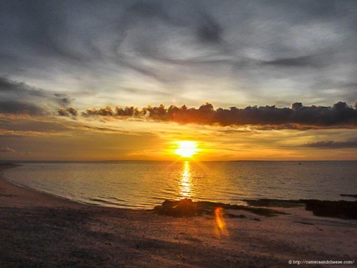 sunset in kalanggaman