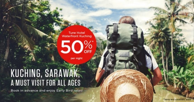 Get 50% Off Best Available Rates for Tune Hotel Waterfront Kuching