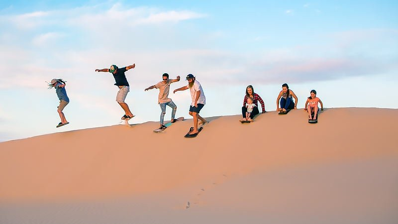 Sandboarding in Port Stephens