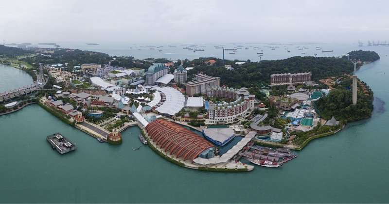 aerial view of sentosa