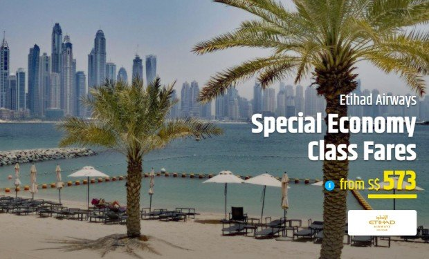 Fly to Europe and Middle East with Etihad Airways and CheapTickets.sg