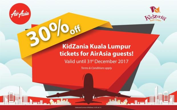 Enjoy 30% Off KidZania Kuala Lumpur Tickets with AirAsia Boarding Pass