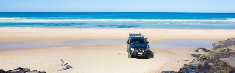 4WD on beach