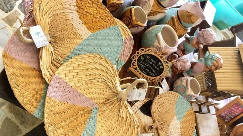 Philippine souvenirs: colourful fans