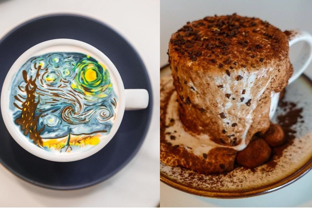 C. Through Cafe art