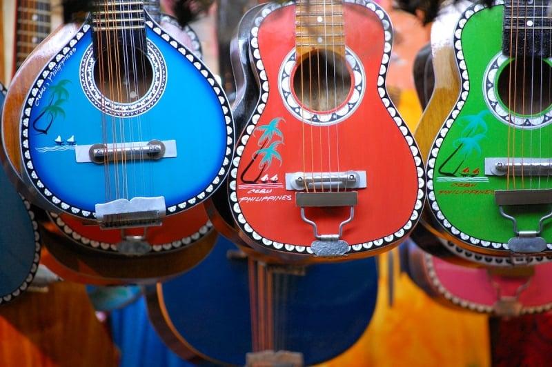 Philippine souvenirs: guitars