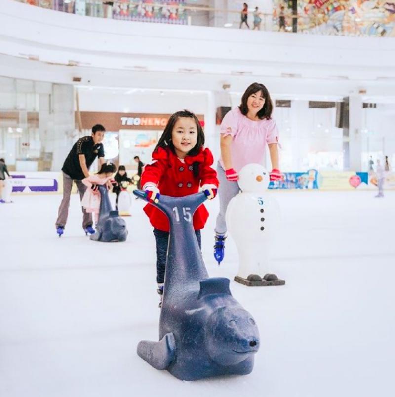 ice skating at The Rink
