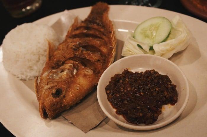 Ikan Nila Goreng with Sambal