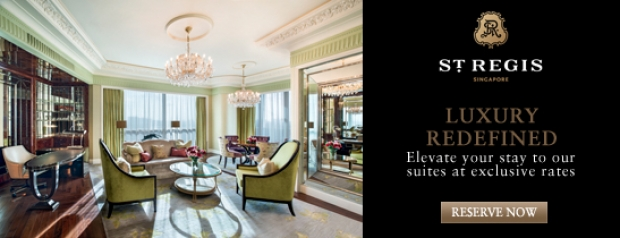Enjoy Up to 15% Savings when you Book till Sunday in St. Regis Singapore