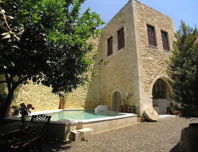 Stone Castle Airbnb in Crete, Greece