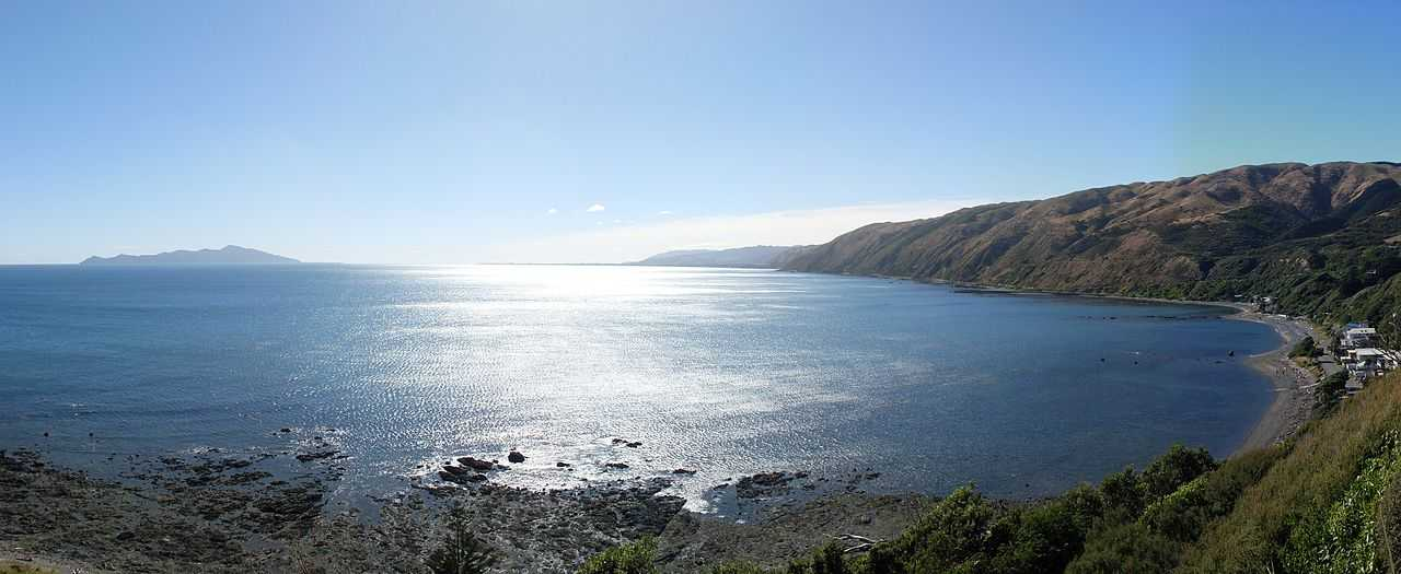 view of tasman sea from kapiti island