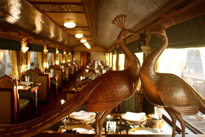 on the luxury train in india