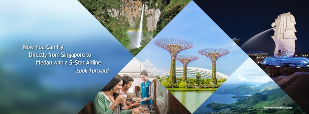 Fly to Medan from SGD198 with Garuda Indonesia