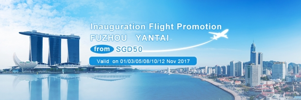 Inauguration Flight Promotion to Fuzhou and Yantai with China Eastern Airlines