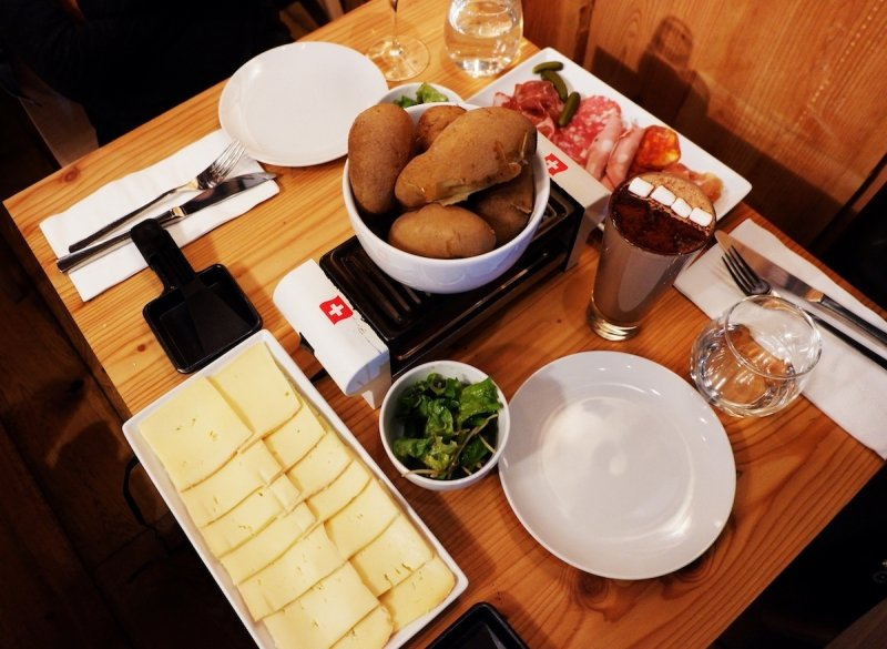 Raclette Spread at The Alpinist in Odin Place Niseko