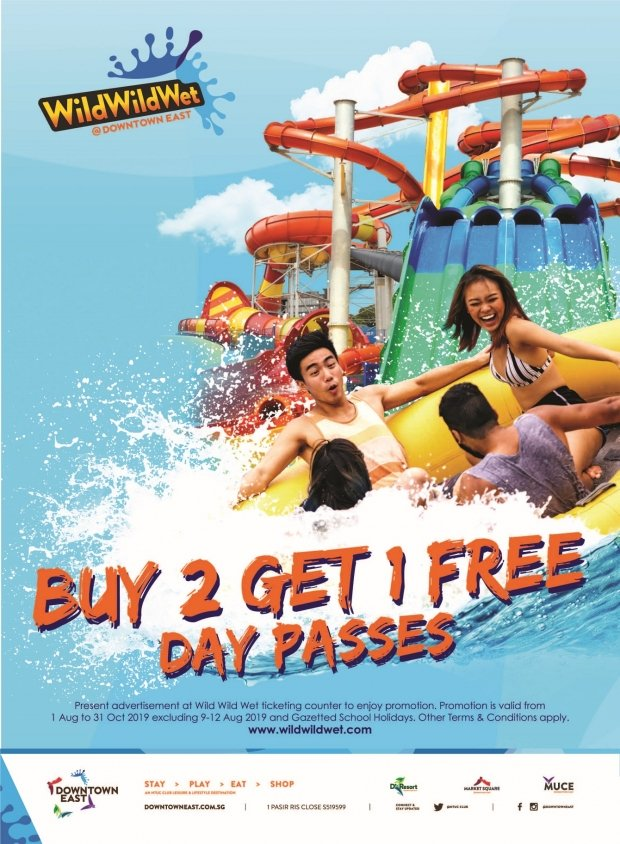 Buy 2 Get 1 Free Day Pass at Wild Wild Wet @Downtown East