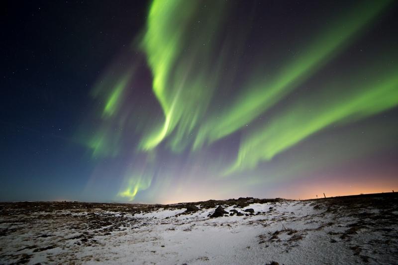 cực quang huyền ảo tại Iceland