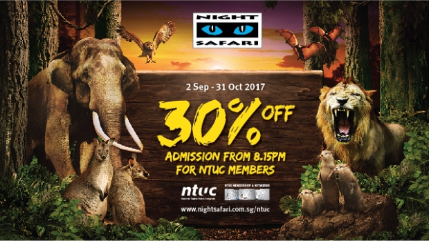 Night Safari Exclusive 30% OFF Admission with NTUC Card