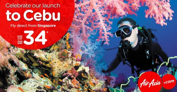 Fly to Cebu from SGD34 with AirAsia
