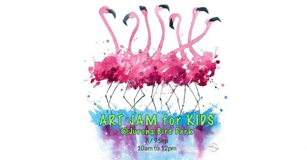 Kids Art Jam at Jurong Bird Park from SGD49 with NTUC Card