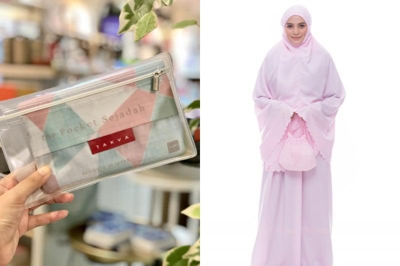 foldable sejadah and telekung