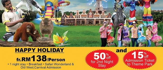 Happy Holiday 50% off 2nd Night Stay in A'Famosa Resort