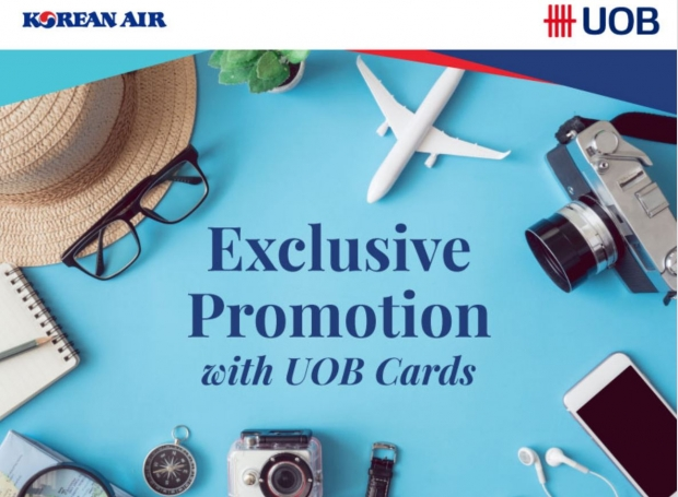 Enjoy up to 20% Off Flights on Korean Air with UOB Card