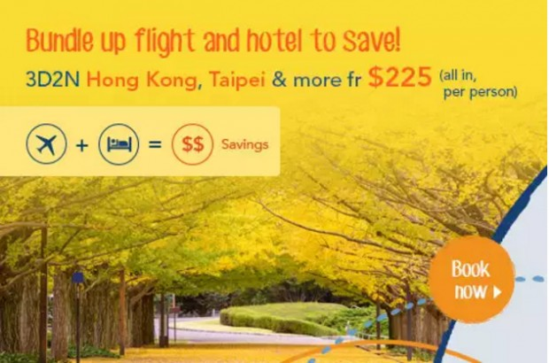 Travel Bundles (Flight + Hotel) from SGD225 with Zuji