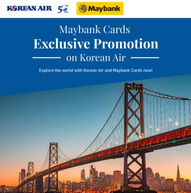 Exclusive Promotion in Korean Air for Maybank Cardholders