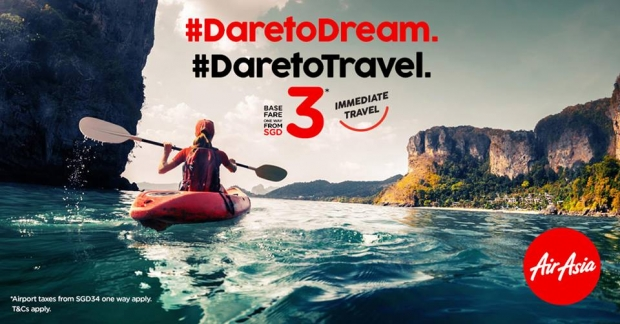 Dare to Dream with more Flights in ASEAN Destinations from SGD3 with AirAsia