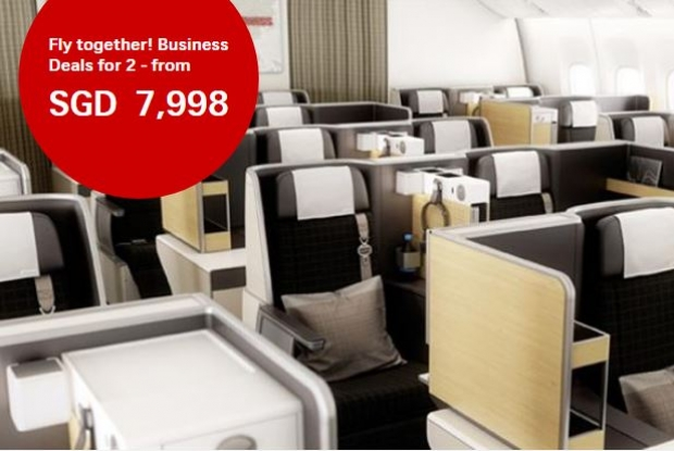 Fly Together this Valentine's - Business Deals for 2 in Swiss Airlines