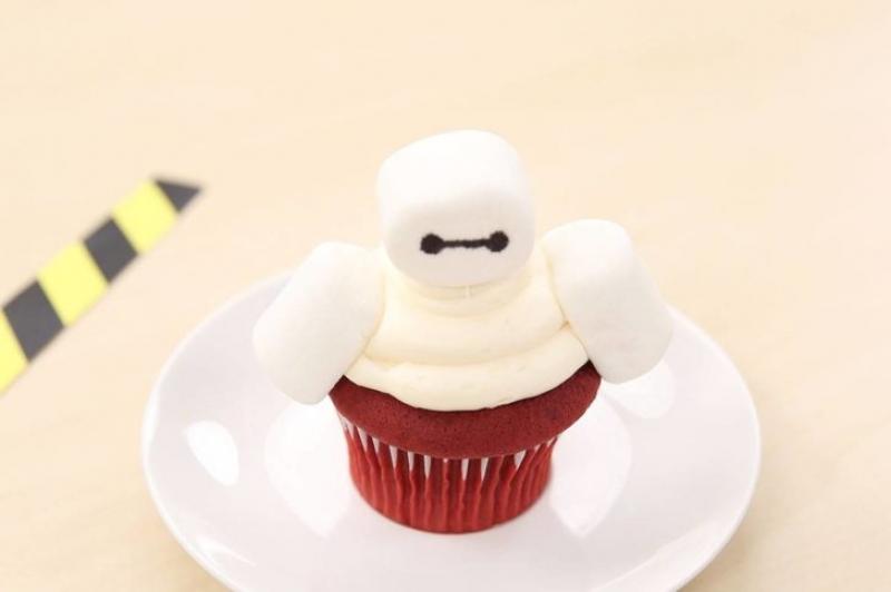 disneyland food baymax cupcake simple at-home recipe