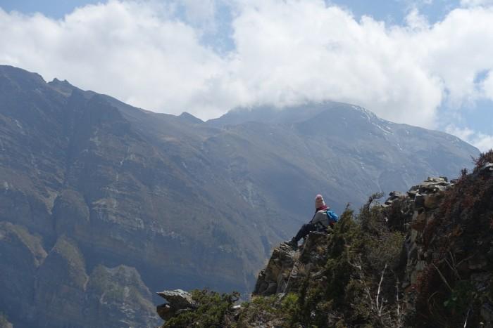 annapurna cliffside
