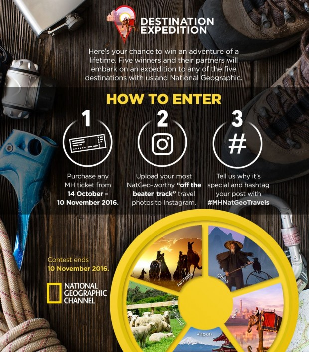 WIN a National Geographic Expedition with Malaysia Airlines