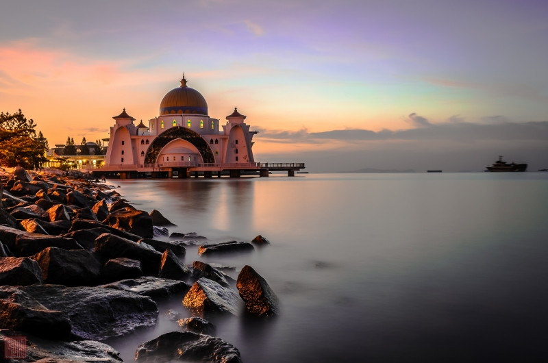 Masjid Selat Melaka Melaka City Malaysia