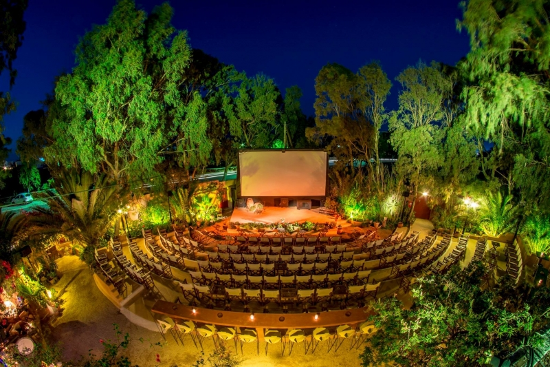 things to do in santorini: open-air cinema