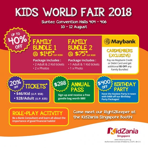 Kids World Fair 2018 - Enjoy Great Discount for KidZania Singapore