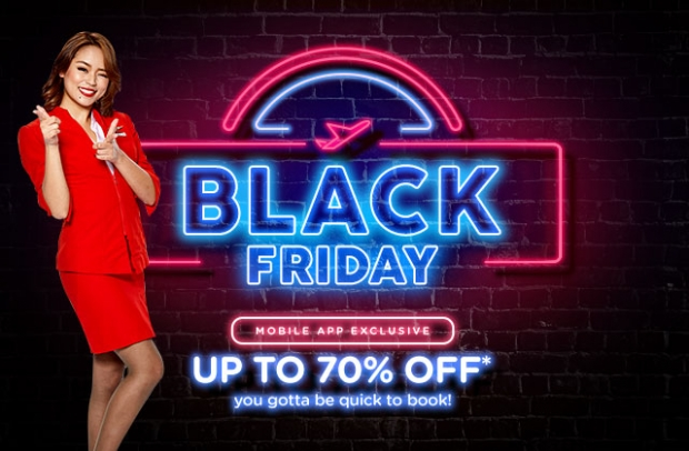 Black Friday Sale with Up to 70% Off Flight in AirAsia